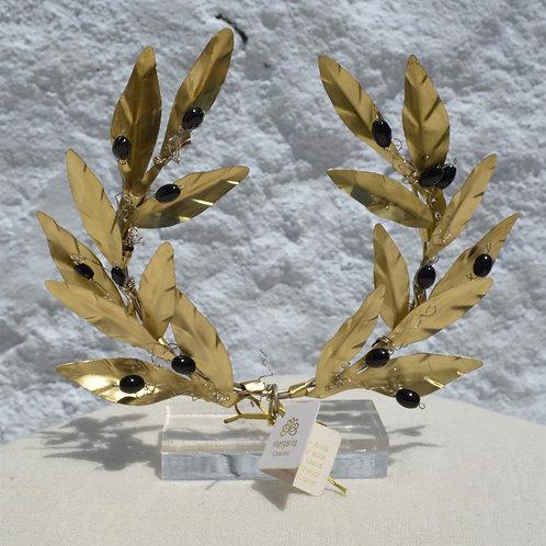 olive wreath art decoration χειροποίητο διακοσμητικό στεφάνι ελιάς