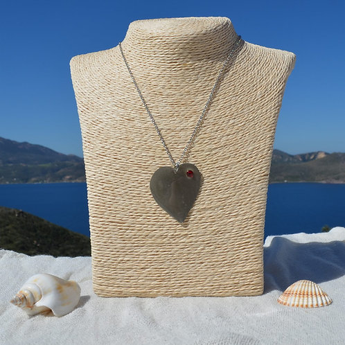 handcrafted heart with swarovski crystal χειροποίητα κοσμήματα καρδιά με swarovski