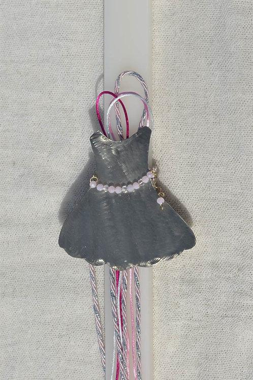 Λαμπάδα με φορεματάκι