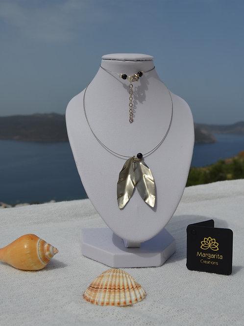handcrafted olive leaves necklace workshop εργαστήρι κοσμημάτων χειροποίητα κοσμήματα