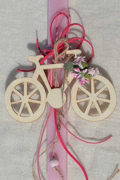 Λαμπάδα με vintage ποδήλατο