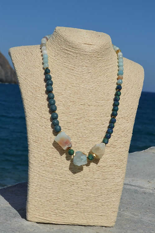 Amazonite necklace - Κολιέ αμαζονίτης