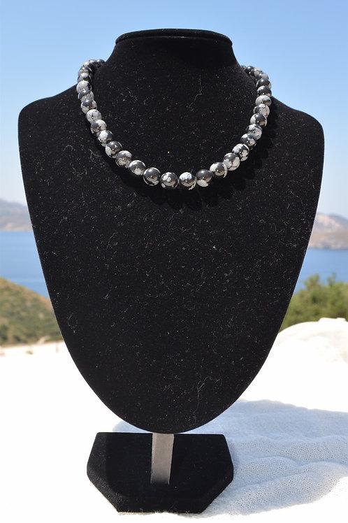 Opsidian necklace - Κολιέ οψιδιανός