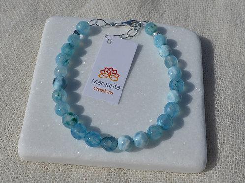 Light blue agate  - Γαλάζιος αχάτης