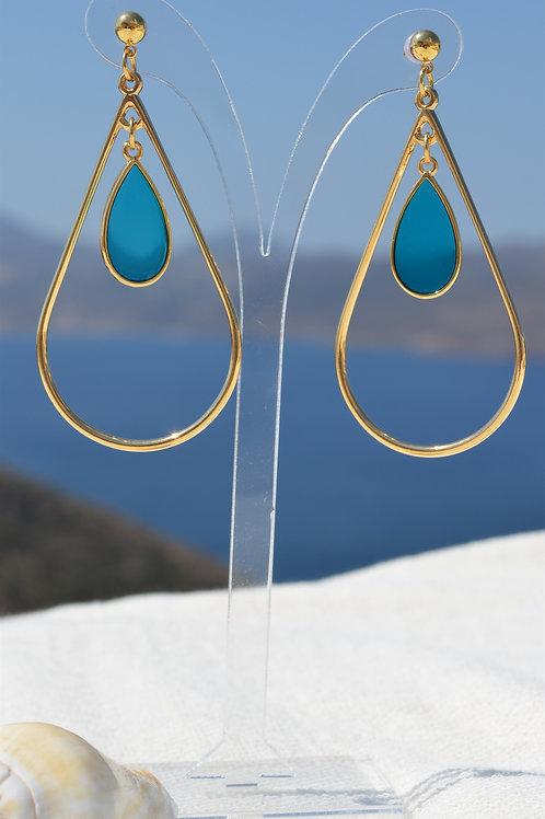 Drop contour with stained glass- Σταγόνα περίγραμμα με βιτρώ