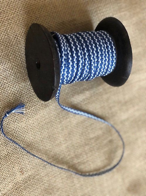Blue and White Checked Linen Tape