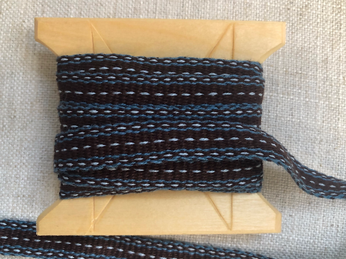 Brown and Blue Cottolin Tape