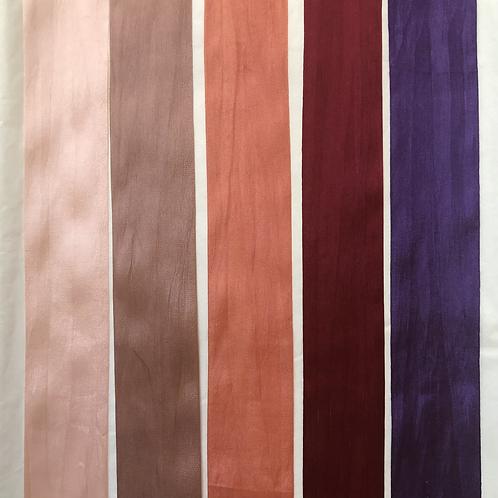 Silk Taffeta Ribbon in Pink to Violet Hues