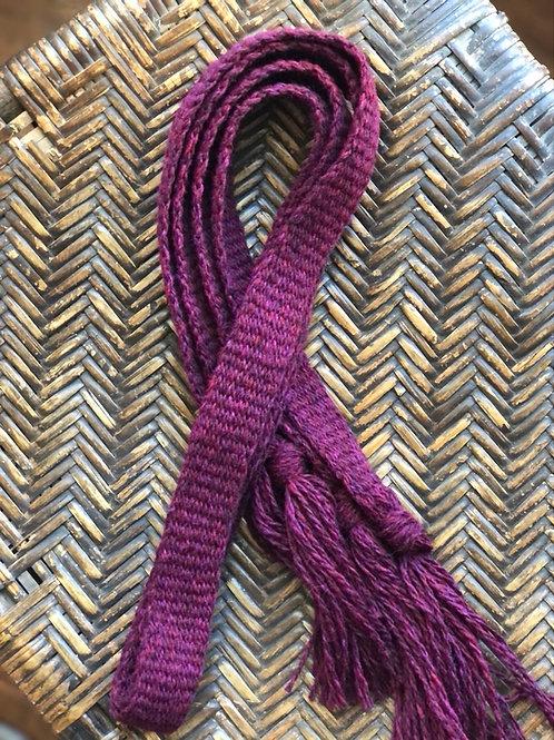 Garnet Highland Wool Garters