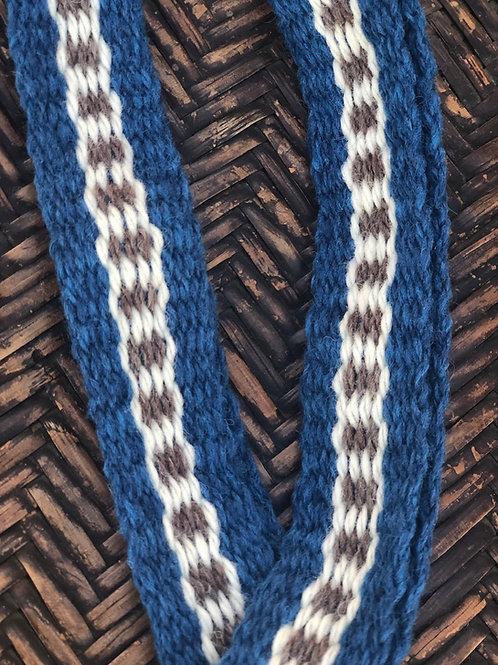 Jacobite Blue Highland Wool Garters