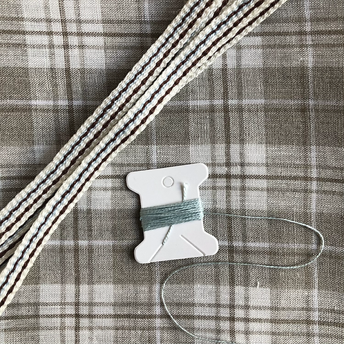Kit-  Natural Checked Linen Apron