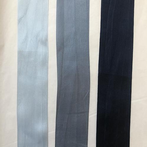 Silk Taffeta Ribbon in Blue Hues