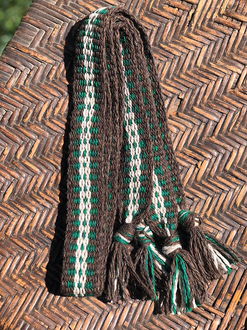 Brown and Green Highland Wool Garters