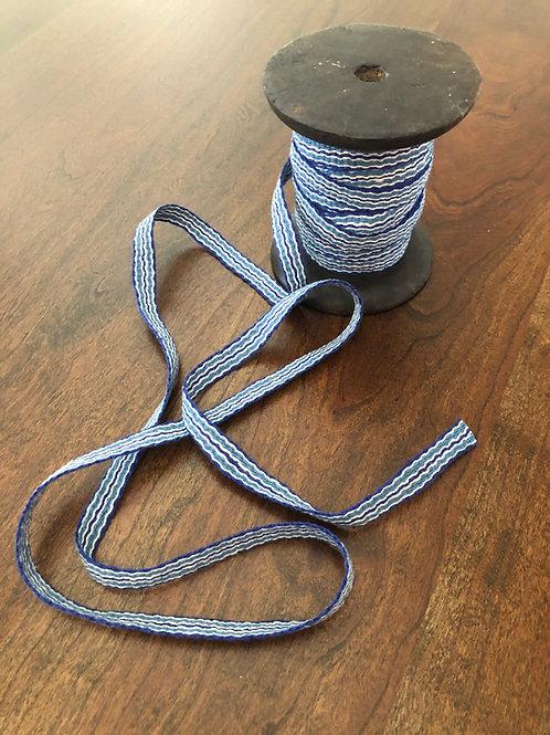 Blue Striped Cottolin Tape