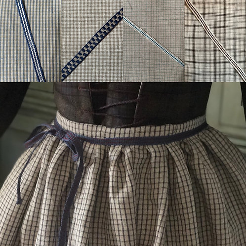 Apron- Linen with Handwoven Tape Ties (Multiple Options)