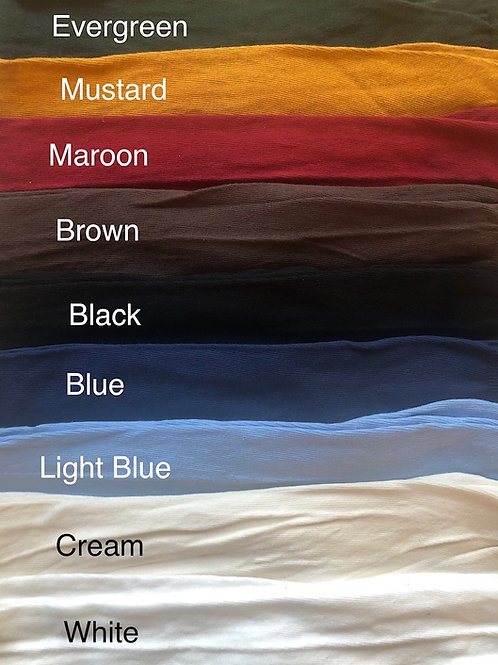 Large- Lightweight Cotton Stockings