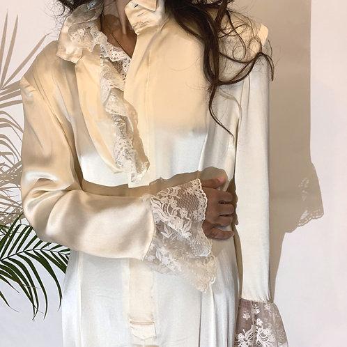 70's Vintage MATSUDA Silk Gown