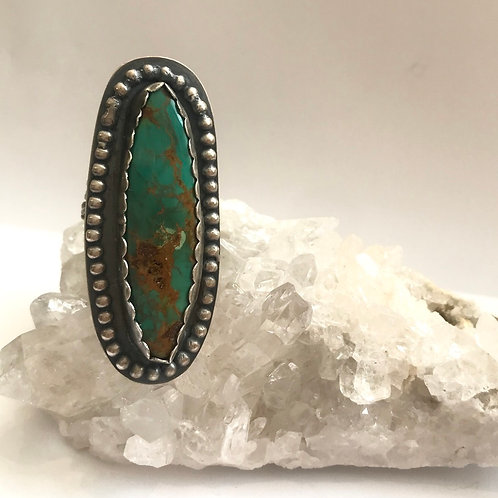 Braided Royston Turquoise Ring