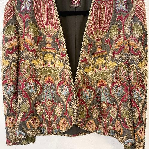 VINTAGE 70's | 80's Anne Klein Tapestry Jacket