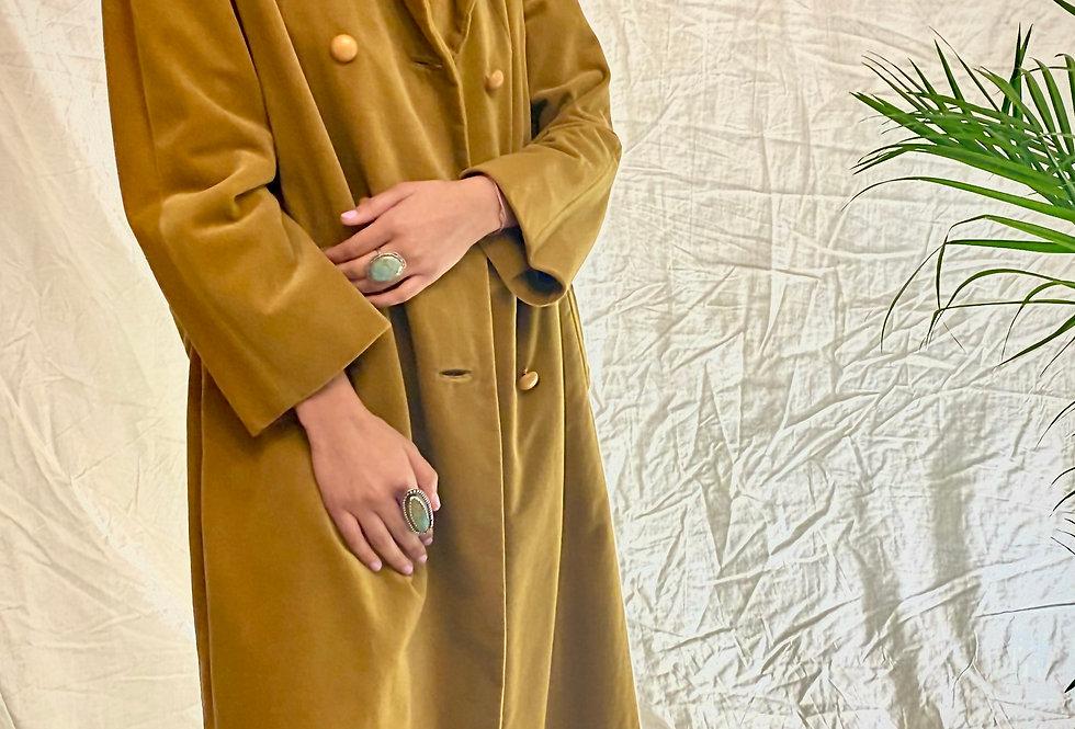 VINTAGE 50's | 60's  Gold Velvet Handmade Jacket