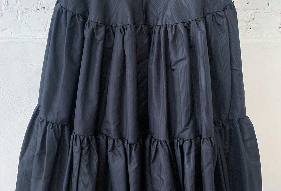 80's Cotton Black Full Circle Skirt