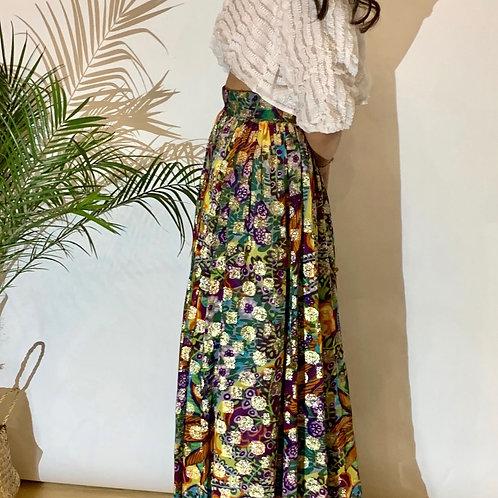 VINTAGE 60's Colorful Lamè Skirt