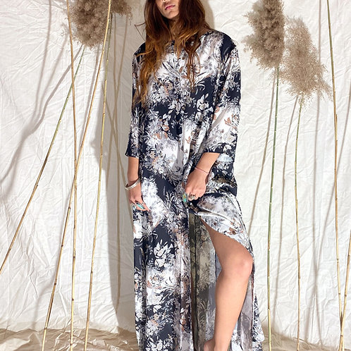 THE MAIDELE GOWN | silver floral haze