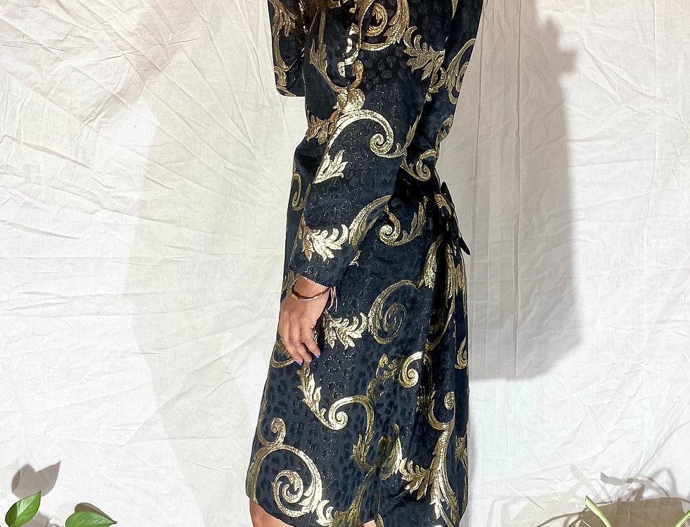 70's | 80's Vintage Scaasi Brocade Dress