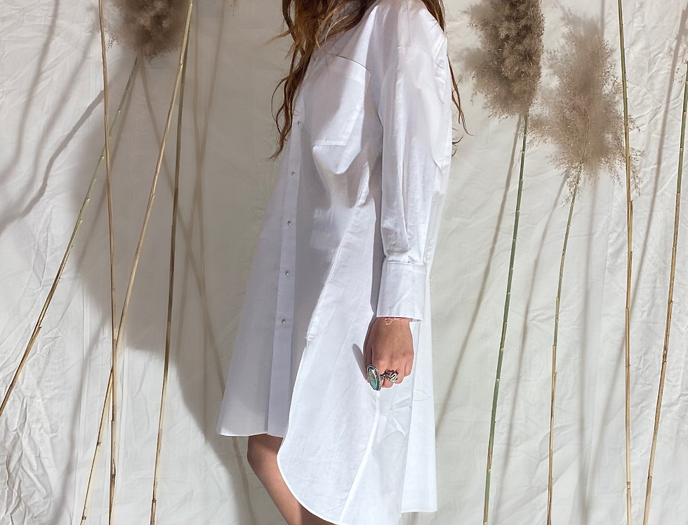 THE BUTTON TUNIC | classic white