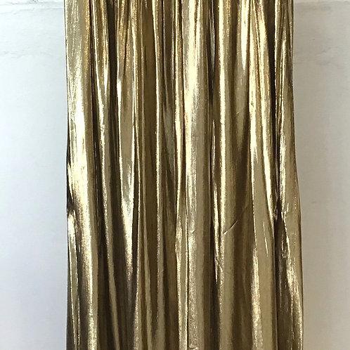 VINTAGE Gold Lamè Maxi Skirt