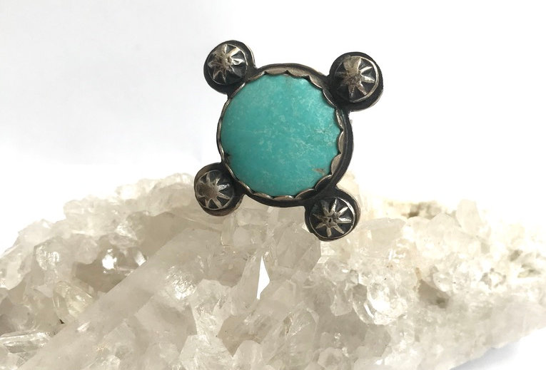 Light Blue Turquoise Ring