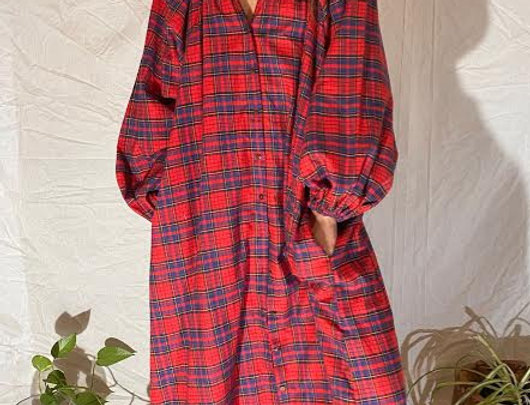 THE PRAIRIE GOWN in plaid