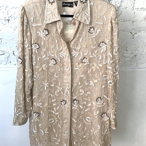 VINTAGE 70's Silk Beaded Jacket