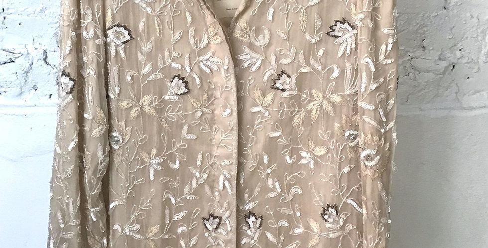VINTAGE 70's Silk Beaded Jacket