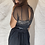 Thumbnail: VINTAGE 40's Black Handmade Dress