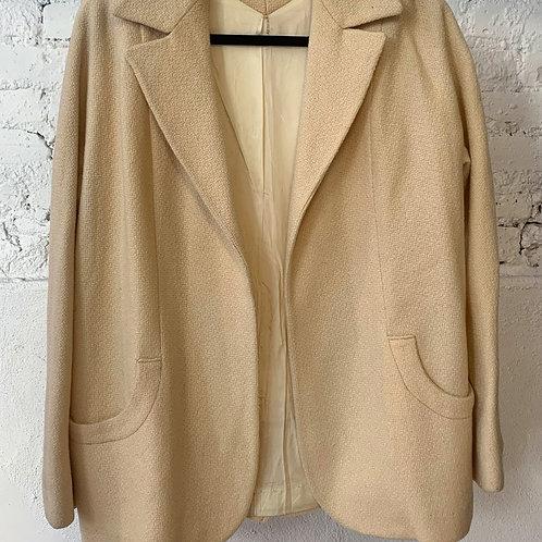 VINTAGE 50's Handmade Ivory Coat