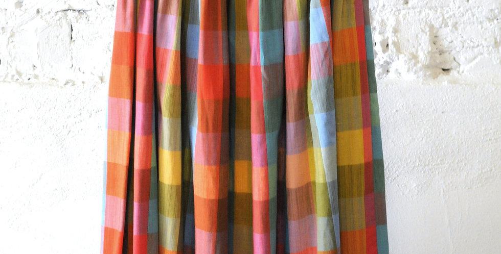 VINTAGE 60's Happy Plaid Skirt