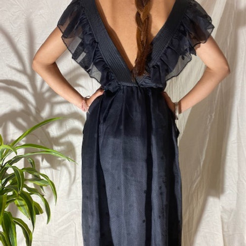 50's Vintage Handmade Black Dress