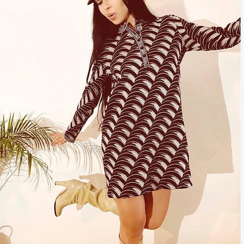 60's Vintage Mod Knit Dress