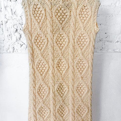 VINTAGE 70's Handmade Wool Knit Dress