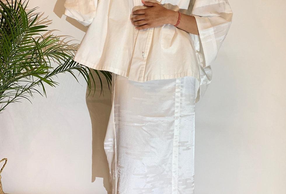 40's Japanese White Kimono Set