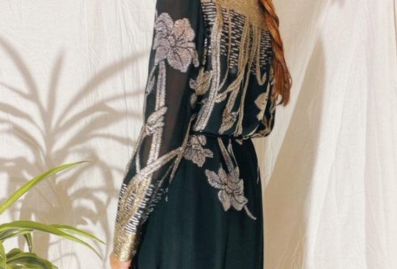 80's Gold Lamè Dress