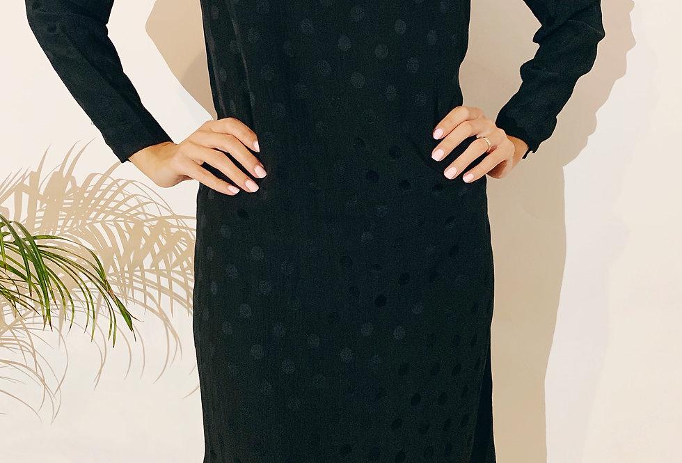 70's Japanese Hanae Mori Silk Dress