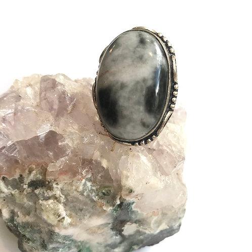 Jasper Sterling Silver Ring