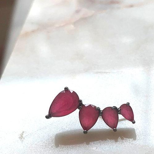 Pink Jewel Ear Climber