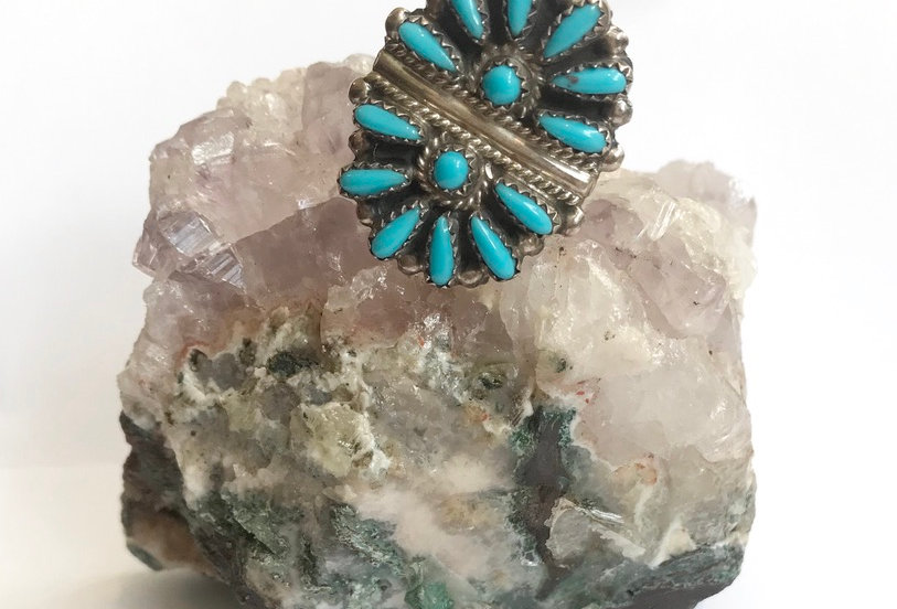 Sterling & Turquoise Zuni Ring
