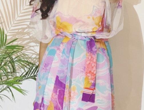 70's Vintage Sheer Dress