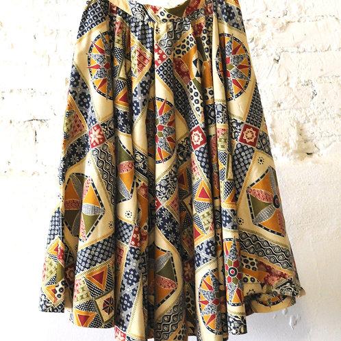 VINTAGE 70's Handmade Circle Skirt