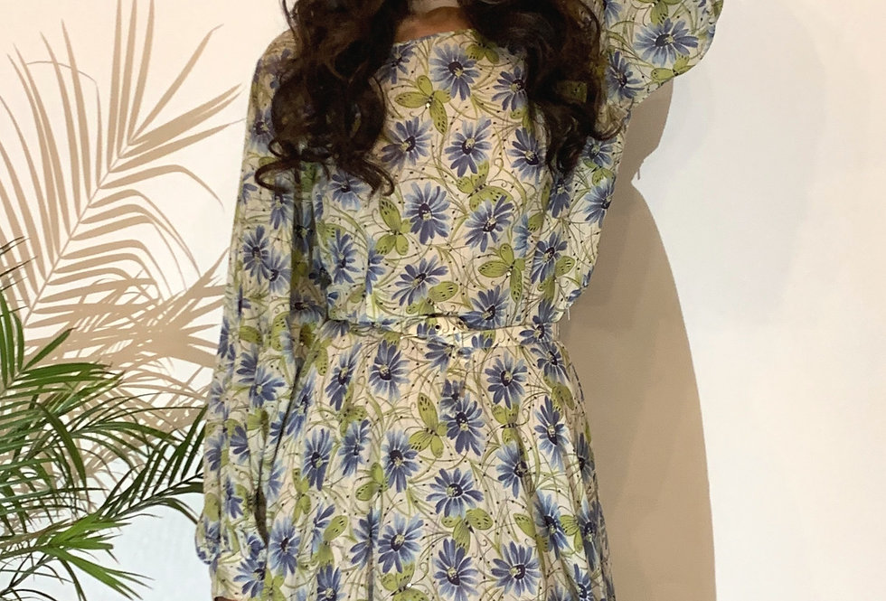 40's Cotton Floral Gown