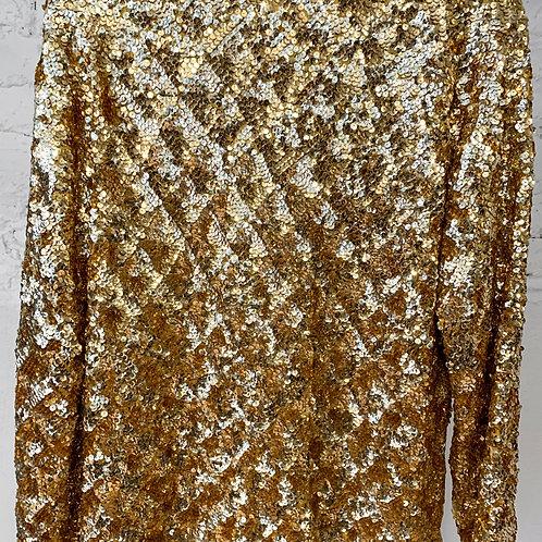 50's VINTAGE Gold Sequin Blazer